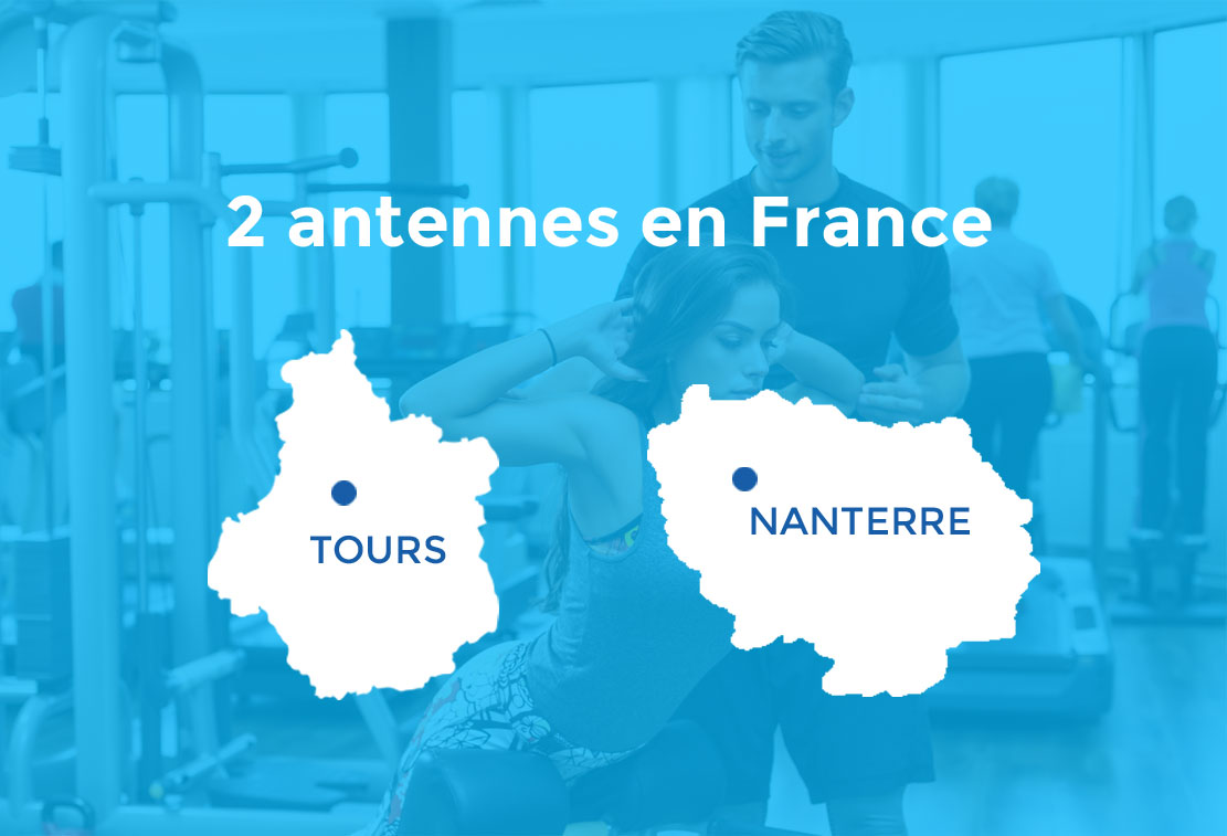 2 antennes en France (Tours, Nanterre)