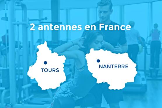 Deux antennes en France / Paris-Nanterre et Tours